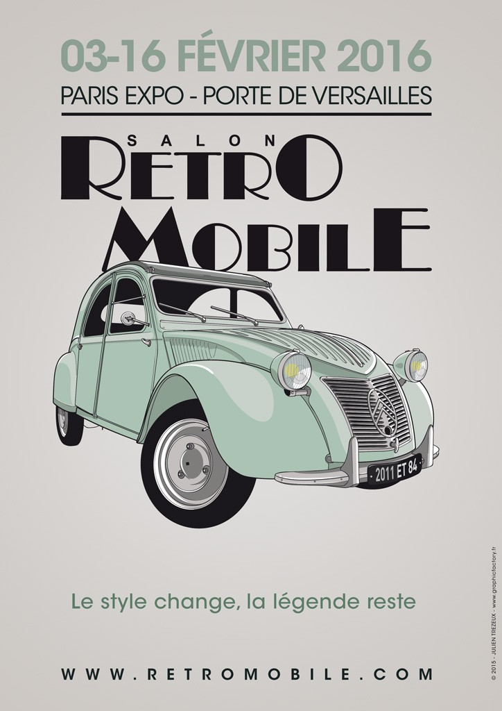 Affiche-Retromobile-Citroen-2CV