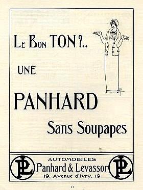Panhard et Levassor Le bon ton - Affiche de 1913